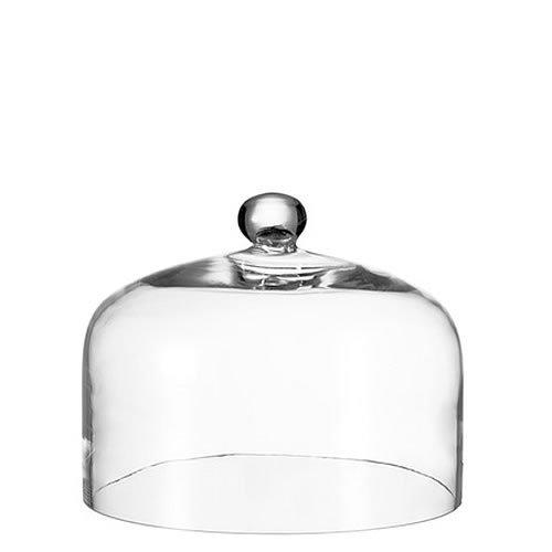 Leonardo Cupola Glocke mit Knopf, Höhe 22 cm, Durchmesser 29 cm, handgefertigtes Klarglas, 042619
