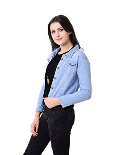 Adiba Women's Denim Jacket (Blue, Small)