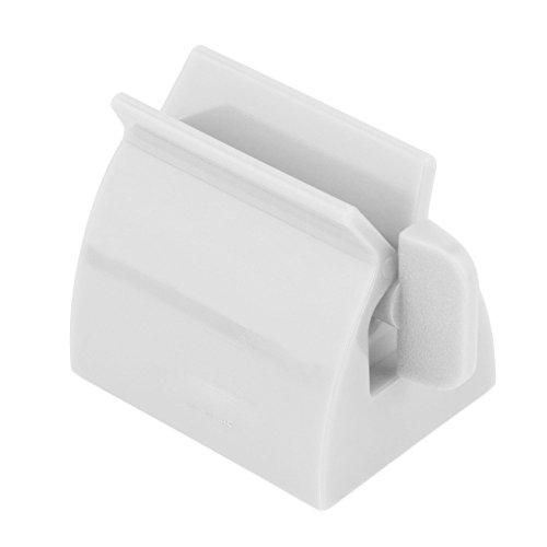 MAXGOODS Rolling Tube Zahnpasta Squeezer Dispenser Tubenpresser Zahnpasta Sitzhalter stehen(Weiß)