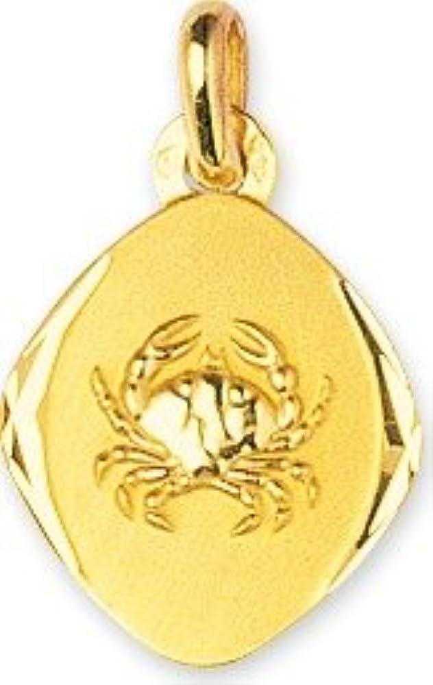 www.diamants-perles.com Sternzeichen-Anhänger oval, Gelbgold 375/1000-CANCER