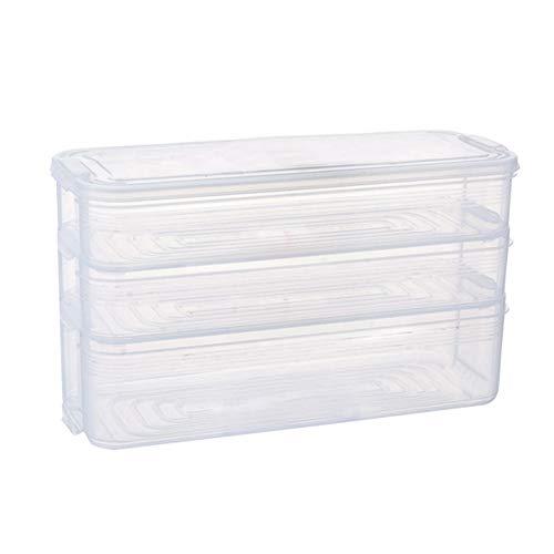 Majome 1 stück Kunststoff Lagerplätze Kühlschrank Lebensmittelbehälter mit Deckel für Küchenschrank Gefrierschrank