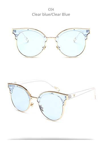 Wang-RX Round Sunglasses Women Ladies Vintage Designer Mirror Sun Glasses Female Shades Eyewear