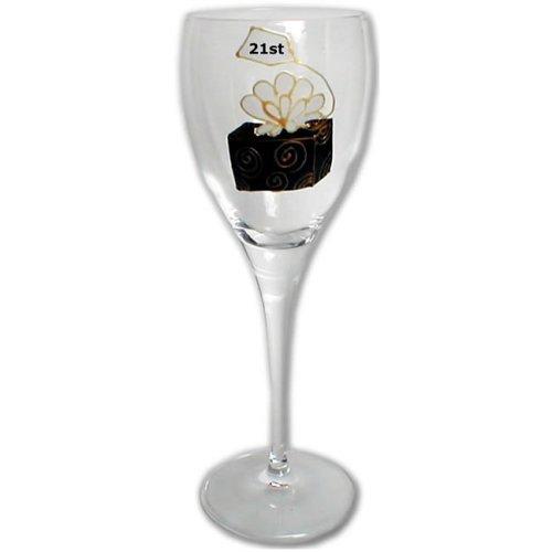 ANNIVERSAIRE BOITE 21st simple vin blanc