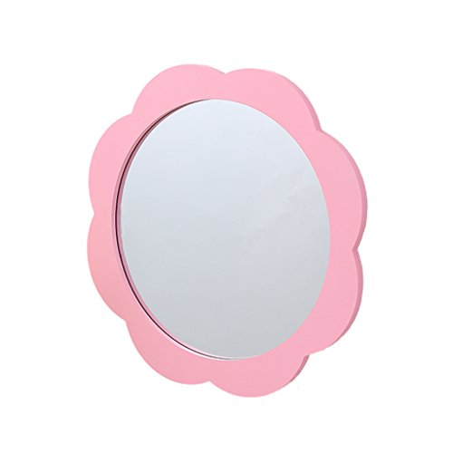 JTWJ Kindergarten-Wandspiegel, Wandspiegel, Kinderspiegel, Größe: 39 x 39 cm (Farbe : Pink)