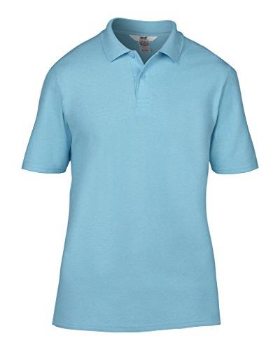MAKZ Herren Poloshirt Blau - Pool blue