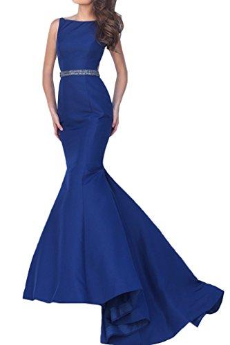 Victory Bridal 2016 Neu Sexy Schulterfrei Damen Abendkleider Ballkleider Partykleider Meerjungfrau Lang Dunkel Blau