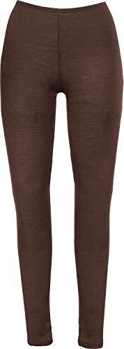 Nina von C. Damen-Unterhose, lang Feinripp Wolle Seide Dunkelbraun Größe 40