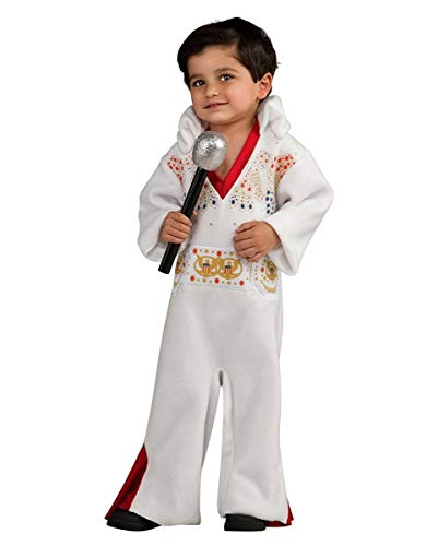 (Horror-Shop King of Rock'n'Roll Elvis Presley Kleinkinder-Kostüm One Size)