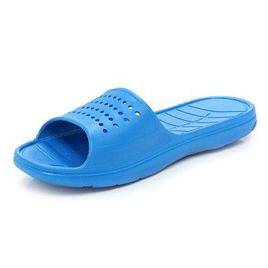Sandales d'été Big Size 39-48 Hommes décontractées pantoufles synthétique Bleu / gris / Marine Light Blue