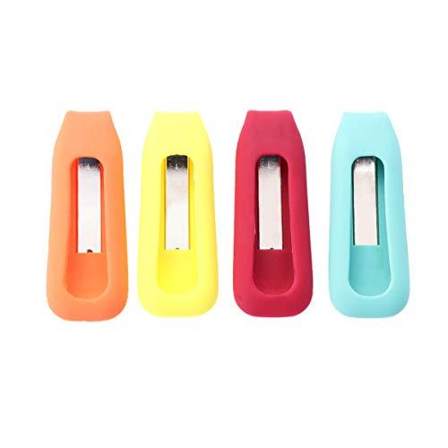 VORCOOL Compatible Clip Holder Ersatz für Fitbit One 4 Stück Bunte Wireless Activity Plus Schlaf Tracker Ersatz Clips Halterungen