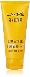 Lakme Sun Expert Ultra Matte SPF 50 Gel Sunscreen, 100ml