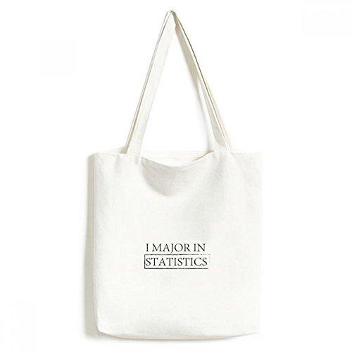 Zitat Ich Major in Statistiken Leinwand Tasche Umweltfreundlich Tote groß Geschenk Kapazität Einkaufstaschen