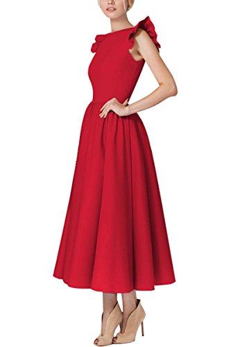 YMING Damen Sommerkleid Ärmellos 50er Retro Partykleid Rund Ausschnitt Cocktailkleid Vintage...
