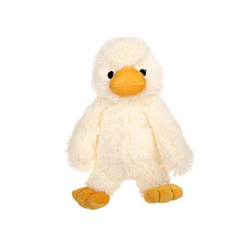 JSMeet Squeek Spielzeug, Babyspielzeug, niedliche Ente, weiches, zotteliges Plüsch-Kauspielzeug, niedliches, solides Haustier-Kauspielzeug für Welpen - befriedige den Hundekauinstinkt -