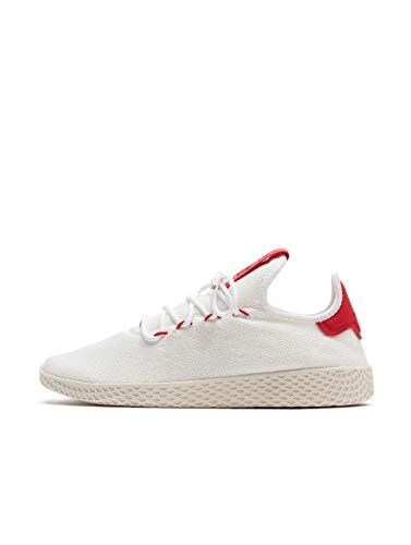 adidas PW Tennis HU, Scarpe da Ginnastica Uomo, Bianco Ftwr Scarlet/Chalk White, 45 EU