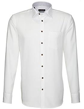 Seidensticker Hemd Splendesto Regular Fit weiß mit Patch