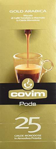 Covim Caffè Cialde Pods Gold Arabica, Compatibile Con Sistema Ese 44mm, 8 Blisters da 25 - Totale 200 Cialde