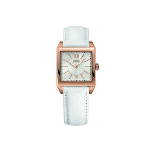 Hugo Boss - 1502239 - Montre Femme - Quartz Analogique - Bracelet Cuir Blanc