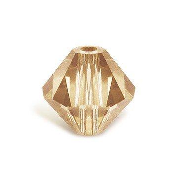 I-Beads Swarovski-Perlen 5328 xilion bikone Crystal Golden Shadow 6 mm (10) -