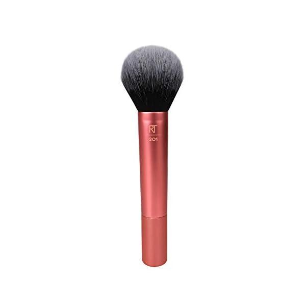 Real Techniques Pincel de maquillaje en polvo, el embalaje y el color del mango pueden variar