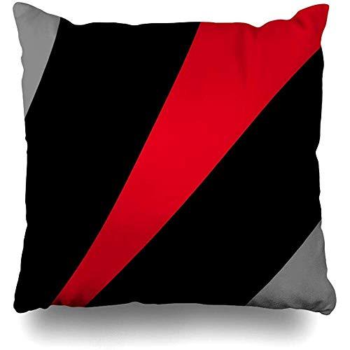 LOVE GIRL Fundas de cojín Negro Rojo Gris Estilo Moderno Tamaño Cuadrado al Aire Libre 45x45 cm Fundas...