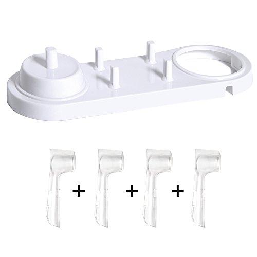 Nincha Elektrische Zahnbürste Head Halter mit Elektrische Zahnbürste Ständer + 4 pcs Zahnbürstenköpfe, für Oral-B -