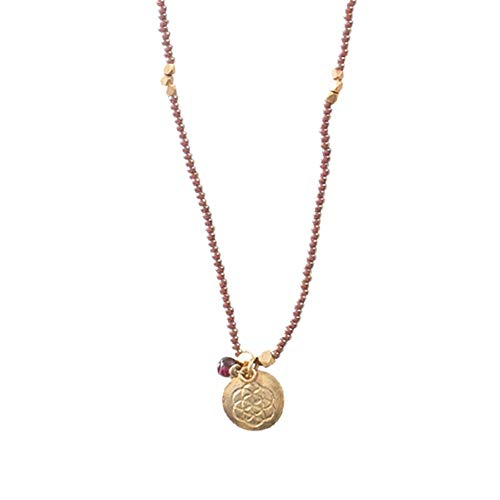 A Beautiful Story Halskette Granat Gold Bead-Kette Handgefertigte Halsketten Damen