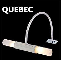 QUEBEC Spiegelleuchte Spiegellampe Aufbauleuchte 2x G4 20W 12V Niedervoltleuchte