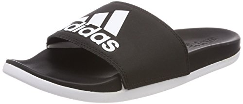 adidas Women's Adilette Cf+ Logo Beach and Pool Shoes, Black (Cblack), 6 UK