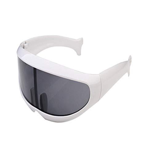 ZHAOSHUNAN Sonnenbrillen Kunststoff Sonnenbrille Single Lens Unisex Rot Weiß Schwarz Damen Sonnenbrille Herren, A