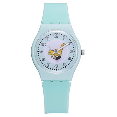 Mitlfuny Unisex Männer Frauen Mode Armbanduhren 2019,Silikon-Bügel-Mode-Frauen-Uhr-Damen-Karikatur-Katzen-Muster-Armbanduhr-Uhr