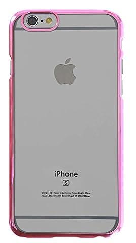 3Q iPhone 6 Hülle iPhone 6S Hülle Transparent Silikon Ultra-dünn Case Cover Handy-Tasche Durchsichtig mit Bumper Pink Rosa. Schutz-Hülle Etui 3Q-PC-IF04 Schweizer Premium Design und Verpackung