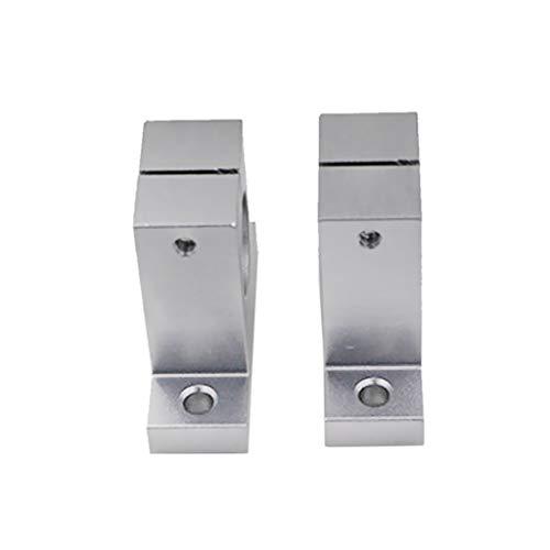 Ogquaton Soporte de Varilla Lineal 2pcs Soporte de Eje de riel Lineal Molino CNC para Impresora 3D Seleccione Todos los 10 tamaños-SK10 Durabilidad