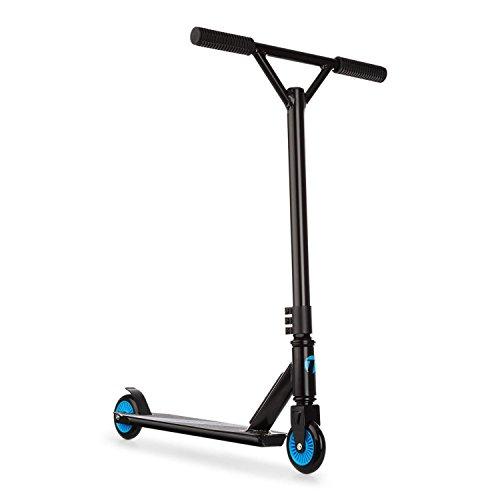 TAKIRA racing Stuntz • Kickscooter • Scooter • Aluminium • 100mm PU-Rädern • 360° Lenkstange mit 3-facher Klemmbefestigung • Trittbremse • bis zu 100kg max. belastbar • schwarz