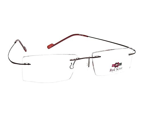 Red Knot Eyewear Red Knot Brown Rimless Unisex Spectacle Frame Mod 1136