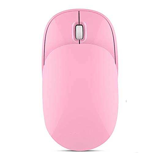 XXF Computer-Maus, 2.4G Beweglicher Komfort Kleine Reise Quiet Klicken Sie Auf Maus Mit USB-Empfänger Und Slider Für Büro/Computer/PC/Startseite,Rosa