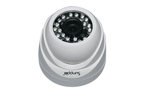 Sumpple 2X WIFI Videocamera Sicurezza Casa IP Wireless/Cablato HD 720P Network, Visione Notturna per Bambini, Animali Domestici, Casa,Ufficio, Supermercati Bianco WiFi Cam-1pezzo