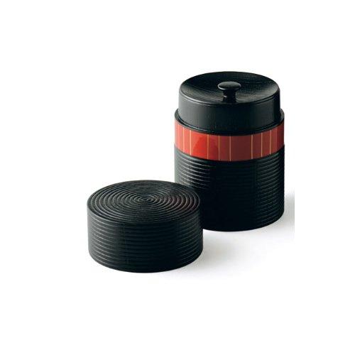 Tokyo Matcha Selection - Japan Crafts Oshima : Urushi Chazutsu [Short] - Gold Line Short & Smart - tea canister caddy storage Japan Lacquareware from Yamanaka [Standard ship by Int'l e-packet: with Tracking & Insurance]