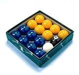 Bleu et Jaune 2 Aramith Jeu de billes de billard bille de choc de 48 mm)