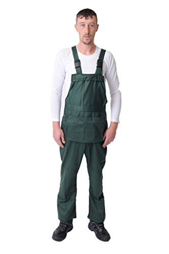 Price comparison product image Road Master Bib and Brace Dungaree Overalls Painters Suit for Decorators Builders,  White,  Black,  Blue,  Red and Navy Colours (XXX-Large,  Forest Green)