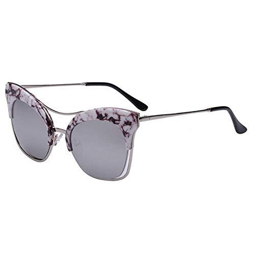 XHCP Frauen polarisierte Klassische Flieger Sonnenbrille, große größe cat Eyes persönlichkeit Sonnenbrille für Frauen uv400 Schutz Fahren Strand Sommer Urlaub (Farbe: c3)
