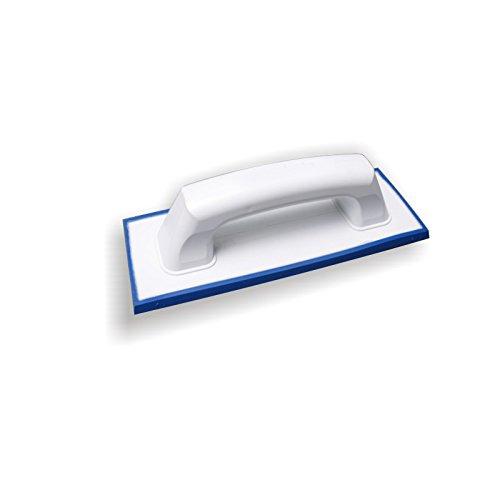 DEWEPRO® Fliesen Fugbrett mit Spezialbelag (Feingummi) für Epoxid-Fugmasse u. Naturstein - 240x95mm - Kunstharz - Epoxidfugbrett - Fugscheibe