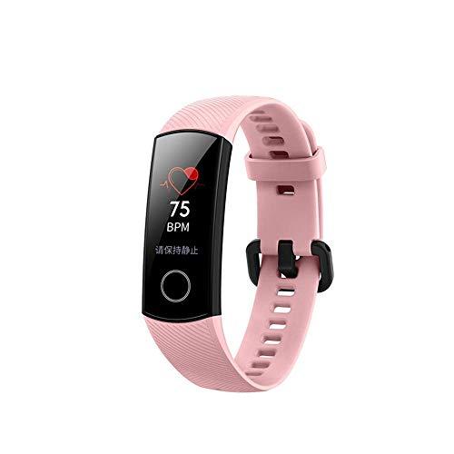 Huawei Honor Band 4, Reloj Pulsera De Fitness con Monitor De Frecuencia CardíAca Ip67 Impermeable Monitorizador De Actividad Rastreador Monitor Reloj Pulsera Conectada Bluetooth (Rosado)