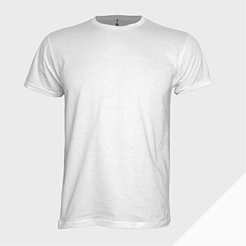 Pack 5 Camisetas Blancas 185 gramas 100% Algodón