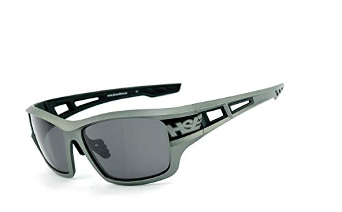 HSE SportEyes®   UV400 Schutzfilter, selbsttönende HLT® Kunststoff-Sicherheitsglas nach DIN EN 166   Sportbrille, Radbrille, Sonnenbrille