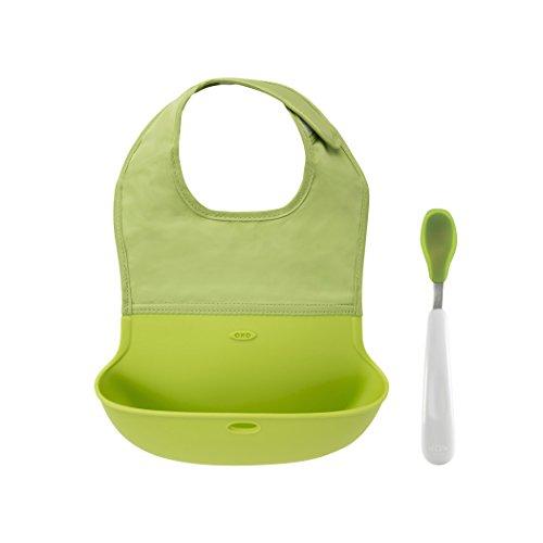 oxo-tot-babero-plegable-oxo-con-cuchara-tot-para-toma-verde