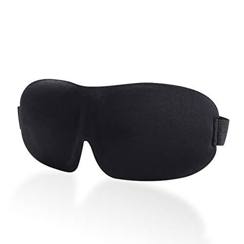 (LANVY Augenmaske zum Schlafen, 3D Stereo Atmungsaktiv, Sanft, Entlastend Reise Maske für Reisen, Schichtarbeit, Meditation - Schwarz)