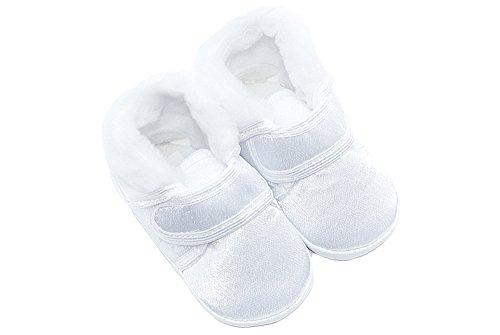 Babyschuhe Winter Taufschuhe mit Klettverschluss Weiß