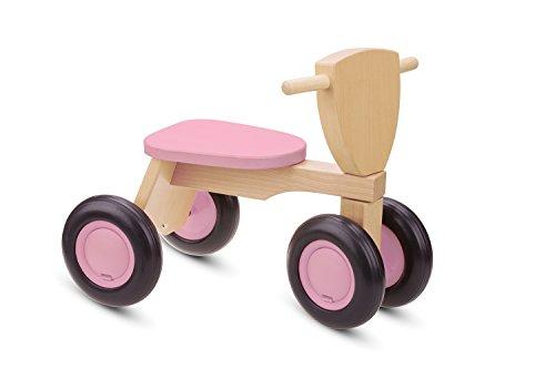 *New Classic Toys – Kinder Holz-Rutscher Rutschdreirad in rosa natur*