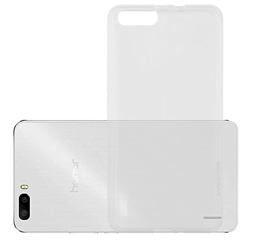 Cadorabo Hülle für Honor 6 Plus - Hülle in VOLL TRANSPARENT – Handyhülle aus TPU Silikon im Ultra Slim 'AIR' Design - Silikonhülle Schutzhülle Soft Back Cover Case Bumper